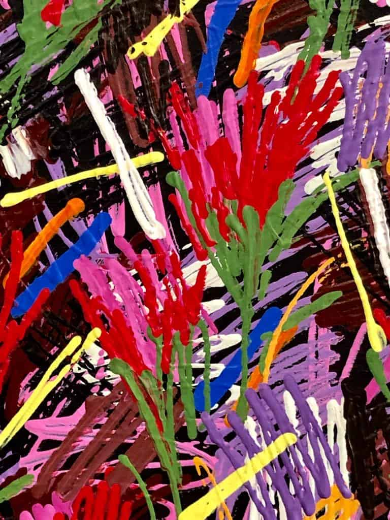 Tulips2018_Acrylic-on-canvas_200x180cm_Somsak-Chaituch_detail1