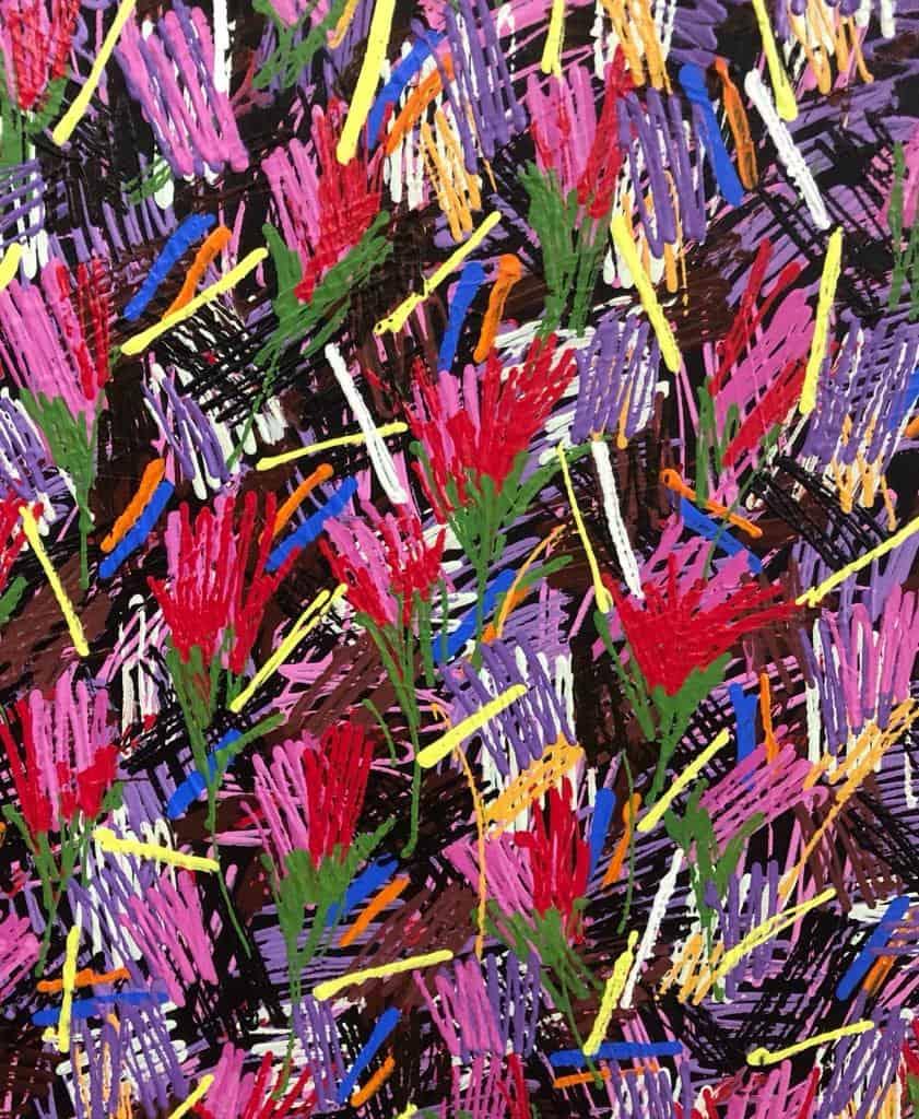 Tulips2018_Acrylic-on-canvas_200x180cm_Somsak-Chaituch_detail3