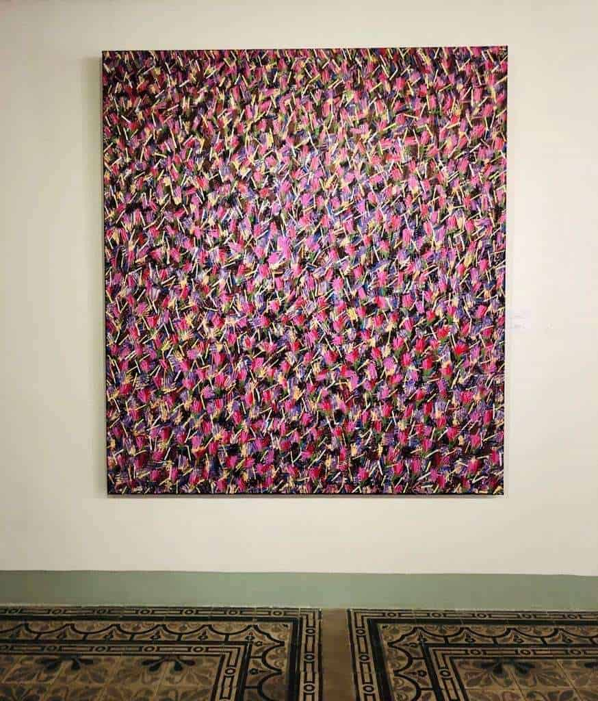 Tulips2018_Acrylic-on-canvas_200x180cm_Somsak-Chaituch_at-HoChiMinh-FineArts-museum